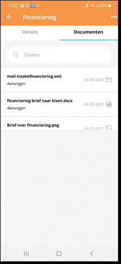 financiering documenten